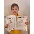 Dominik has made some super wanted posters.