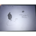 Ben has drawn a picture of the character Claude.