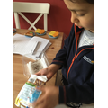 Daniyal has been busy growing cress at home.
