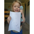 Grace is learning to write her name- fantastic!