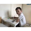 Ben is working hard with his home learning.