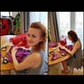 Miss Wilson is honing her seamstress skills