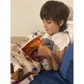 Dimitar has been reading lots at home.