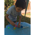 Daniyal has been experimenting with bubbles.