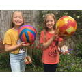 Daisy and Bea have made paper mache balloon.