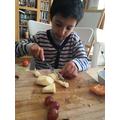 Daniyal has made some delicious fruit salad.