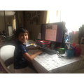 Emir has been working hard at home.