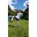 Dario has been improving his football skills.