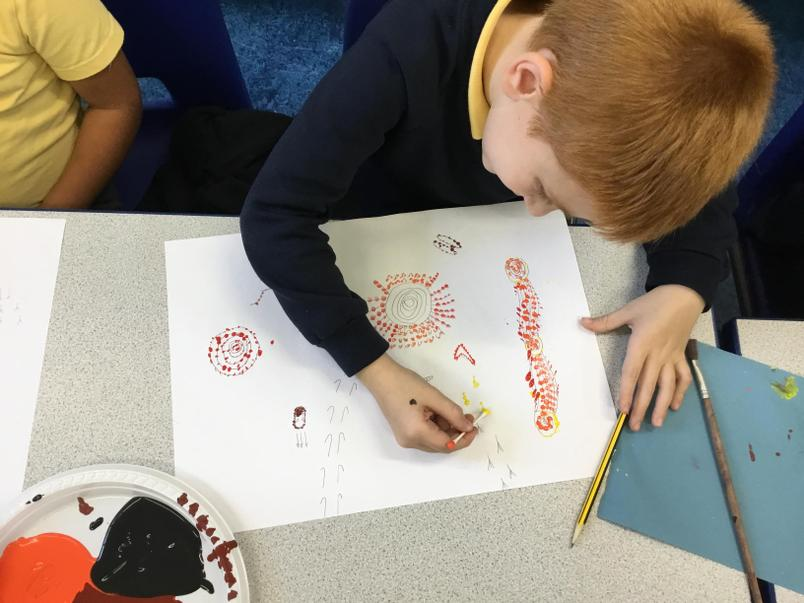 Celebrating Black History Month with Aboriginal dot painting