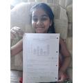 Sanaya has been working hard with her maths.