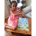 Hanisha has completed a tricky puzzle- well done!