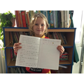 Elfie wrote a fantastic foxy fact file showing off her excellent vocabulary & handwriting.