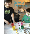 Adyan did a fun science experiment this week.