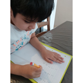 Ryan has been practising writing numbers.