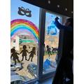 Cairo has decorated his window.