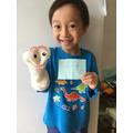 Lucas has made a fabulous puppet.