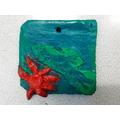 2-D Relief Clay Tile - Aditya