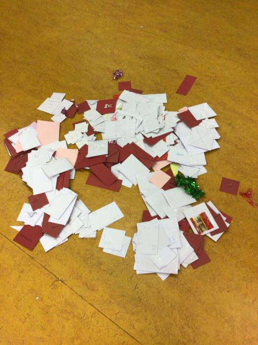We opened the Christmas card post box!,