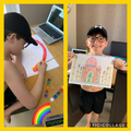 Jobe's rainbow and colour art