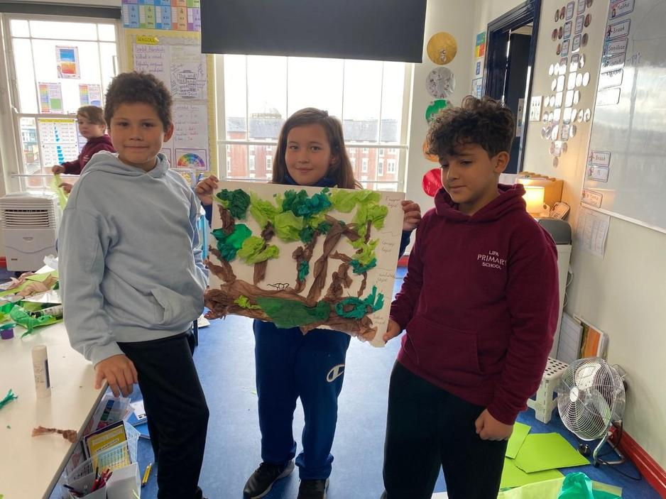PBL- learning about layers of the rainforest