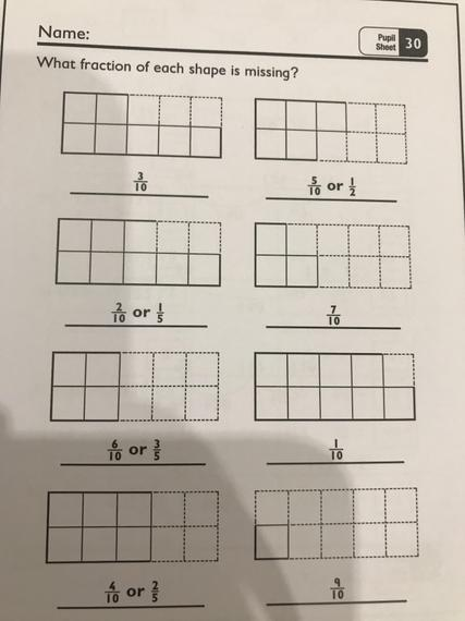 Pupil sheet 30