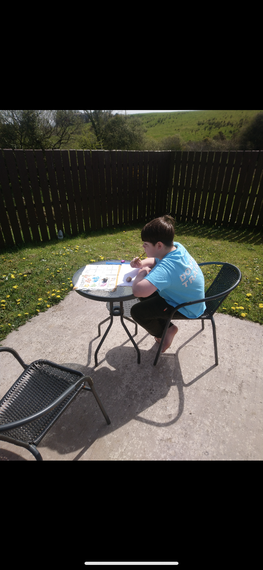 Hard at work in the sun! Well done!