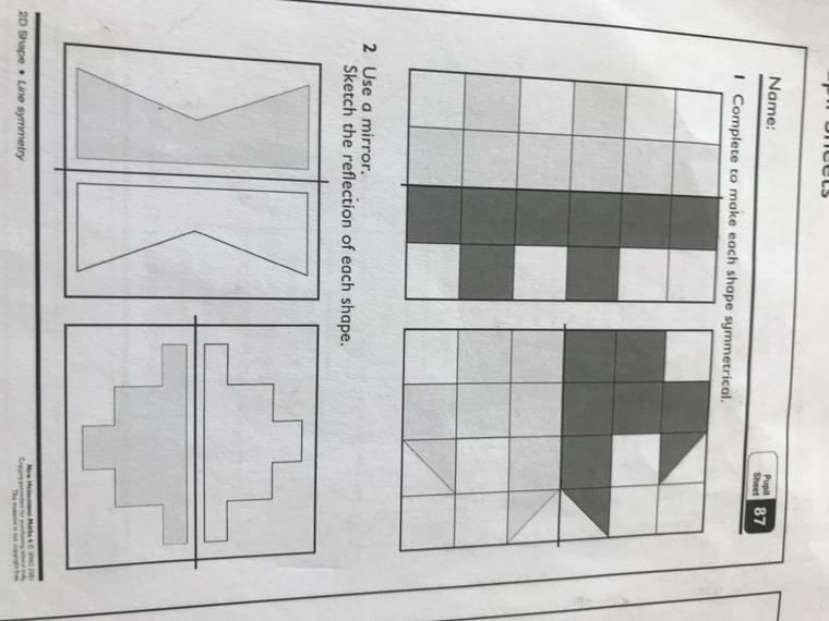 Pupil sheet 87