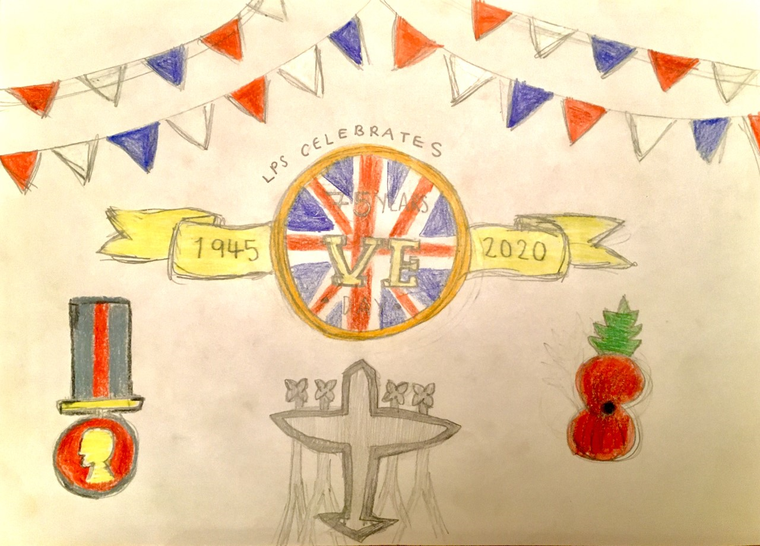 Brilliant VE Day poster by William