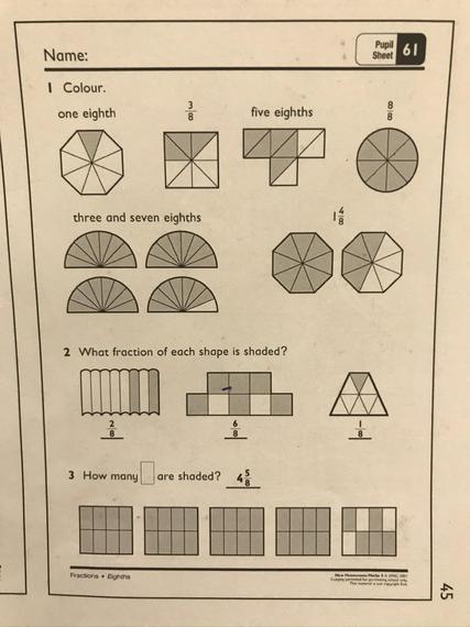 Pupil sheet 61