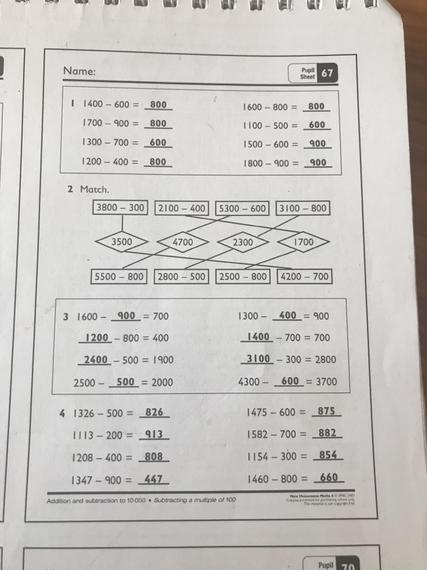 Pupil sheet 67