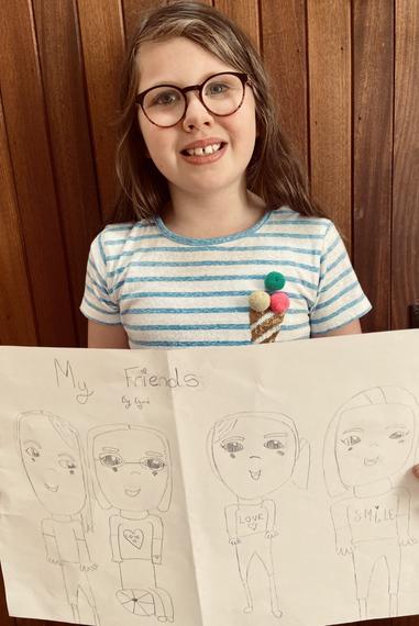 Sketch of my friends for Mental Health Week