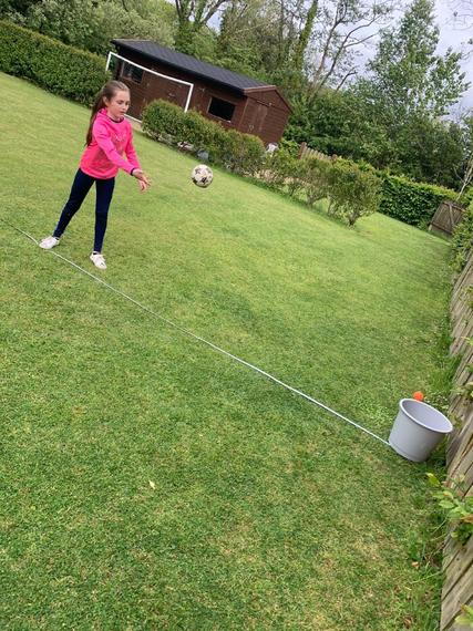Target throwing.