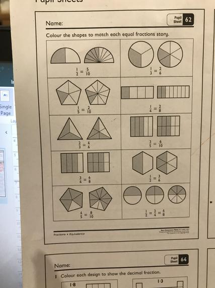 Red group pupil sheet 62