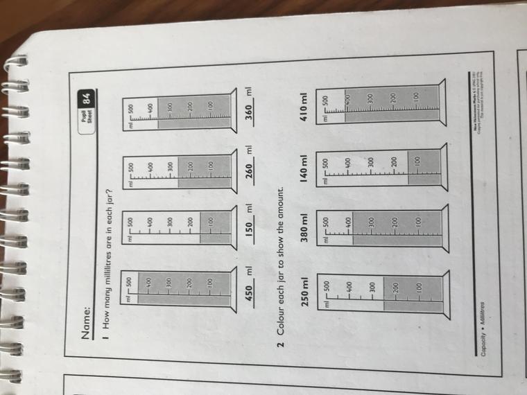 Pupil sheet 84