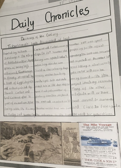 Literacy newspaper article by William