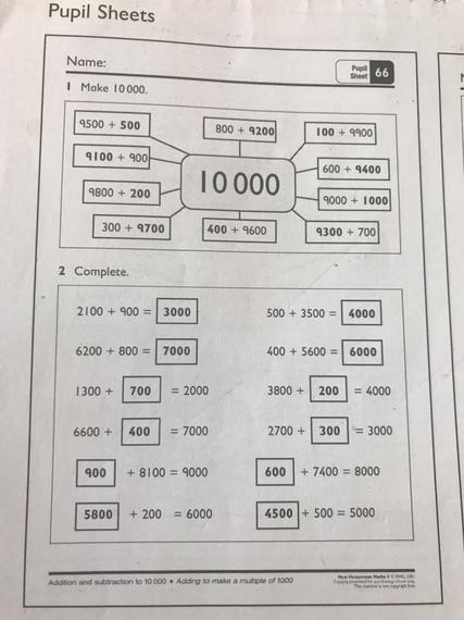 Pupil sheet 66