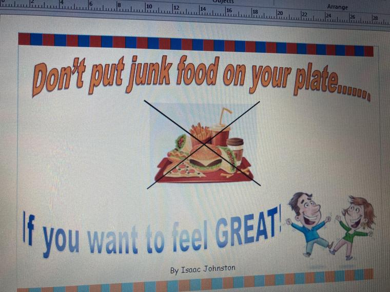 Isaac's Healthy Poster