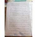 Great Fire Writing by Imogen