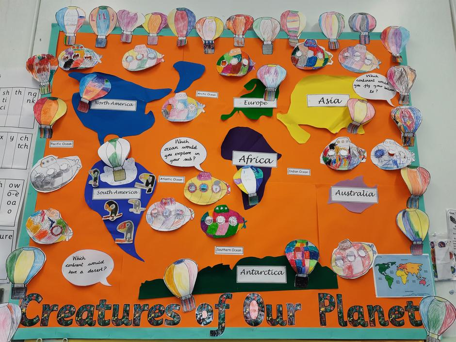 We have learnt lots about the continents and oceans.