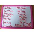 Spellings by Rebecka