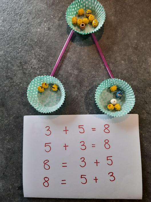 Only use the 3 numbers in the cake cases.