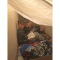 Dens and virtual campfire with Alex