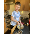 Preparing food with Oliver B
