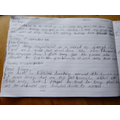 Diary writing by Toby