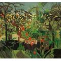 Our class interpretation of Rousseau's Exotic landscape.