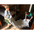 Bed making, we have been practising!