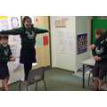Year 5 recreating scenes from 'Robin Hood'
