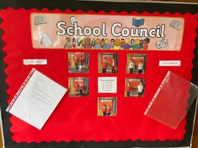 School Council display board