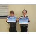 Samuel & Olivia gained their Stage 1 Swimming!