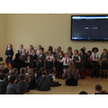 Choir performed for the whole school